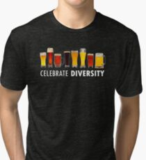 Celebrate Beer Diversity Funny Tri-blend T-Shirt