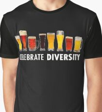 Celebrate Beer Diversity Funny Graphic T-Shirt