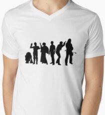Millenium Falcon Crew Men's V-Neck T-Shirt
