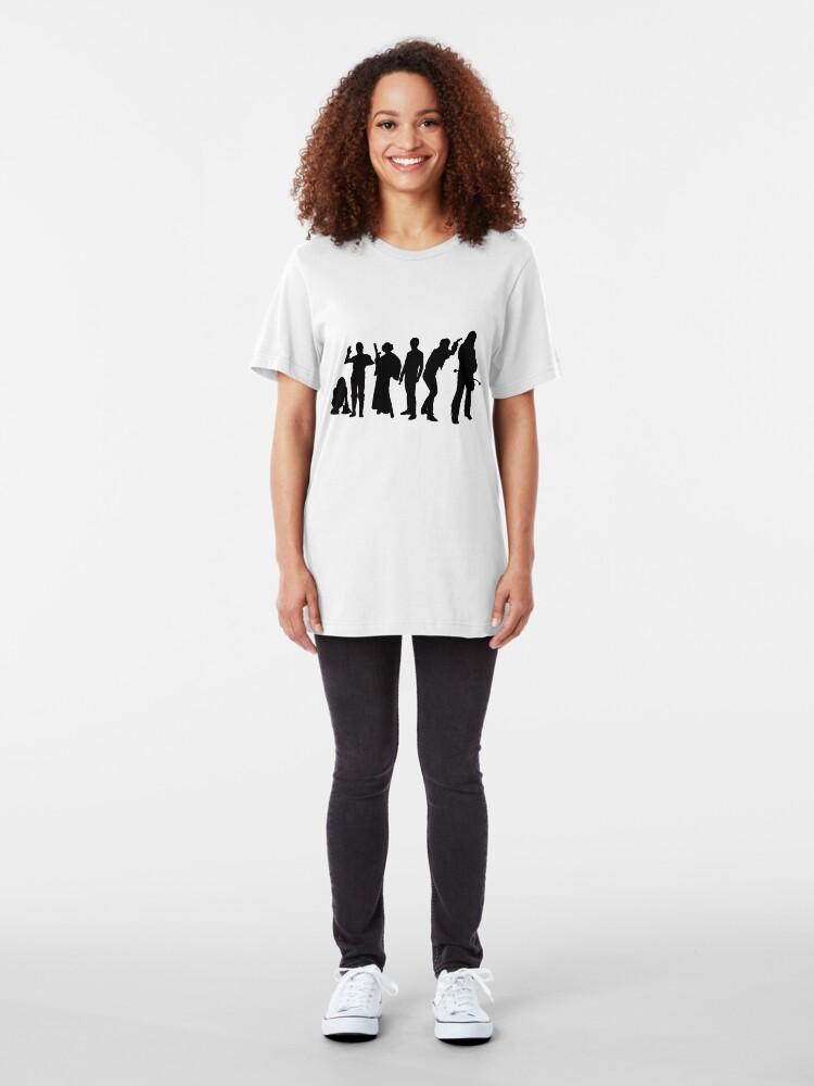 Alternative Ansicht von Millenium Falcon Crew Slim Fit T-Shirt