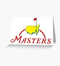 Masters Golf Map  Greeting Card