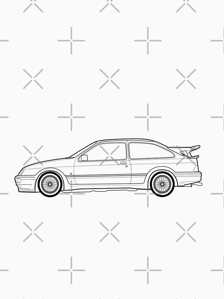 Ford Sierra Rs Cosworth Outline Drawing Men S Premium T Shirt By 90s Sports Car: Mitsubishi 90sb Wiring Schematic At Hrqsolutions.co