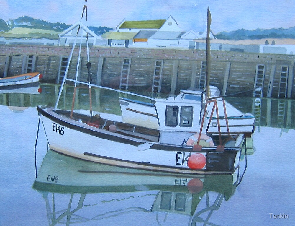 Fishing Boat, West Bay by Tonkin
