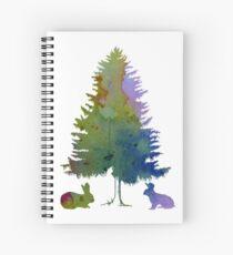 Rabbits under a fir Spiral Notebook