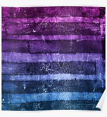 monoprint stripes 1 Poster