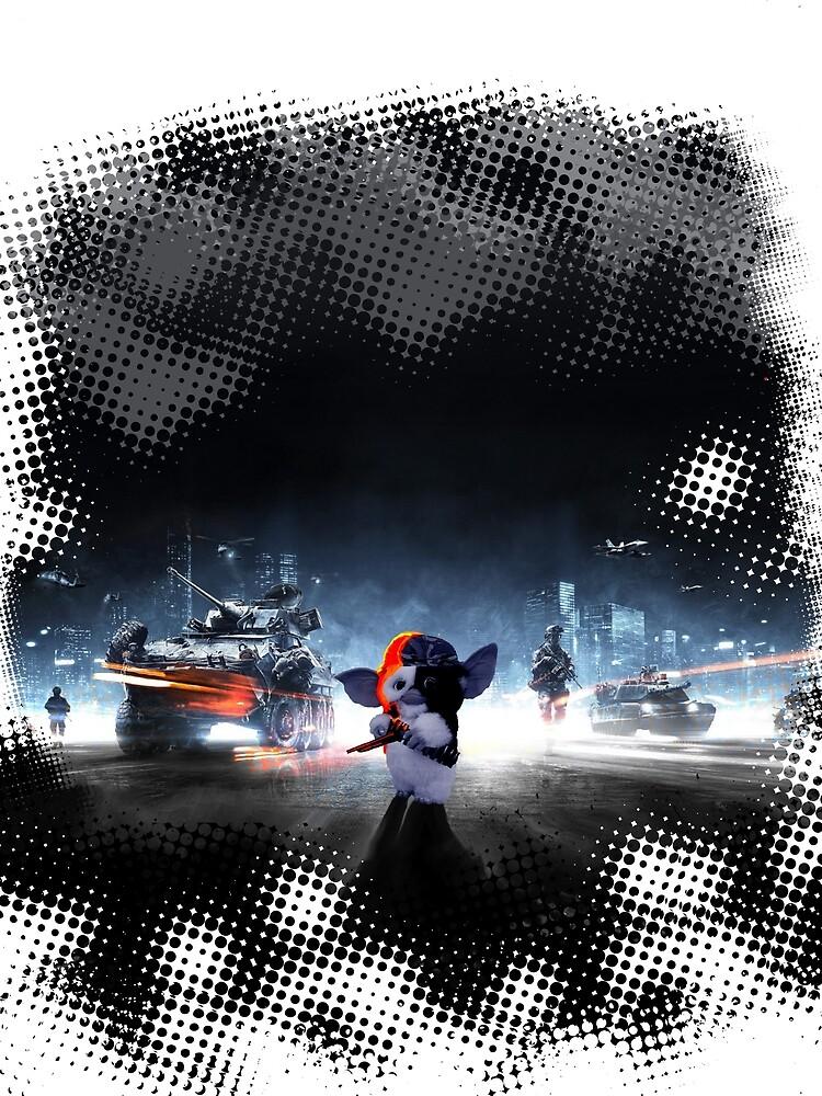 Gizmo on the Battlefield by sinavus