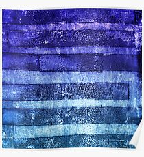 monoprint stripes 2 Poster