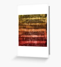 monoprint stripes 4 Greeting Card
