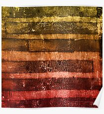 monoprint stripes 4 Poster
