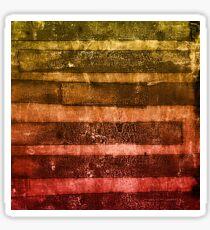 monoprint stripes 4 Sticker
