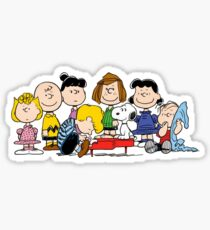 Peanuts, Charlie Brown, Snoopy Sticker