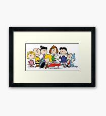 Peanuts, Charlie Brown, Snoopy Framed Print