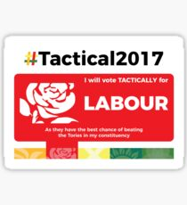 Vote Labour Tactically Sticker