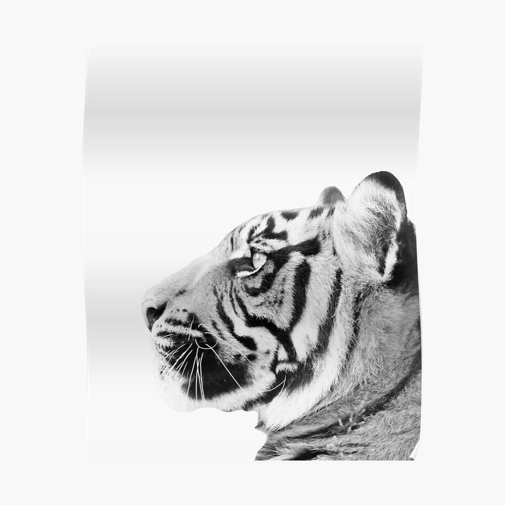 Minimaler Tigerdruck Poster