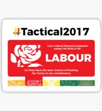 Lib Dem supporting Labour Sticker