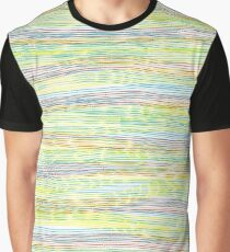 horizontal lines Graphic T-Shirt