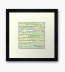 horizontal lines Framed Print