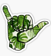 Hang Loose Palm Trees Sticker
