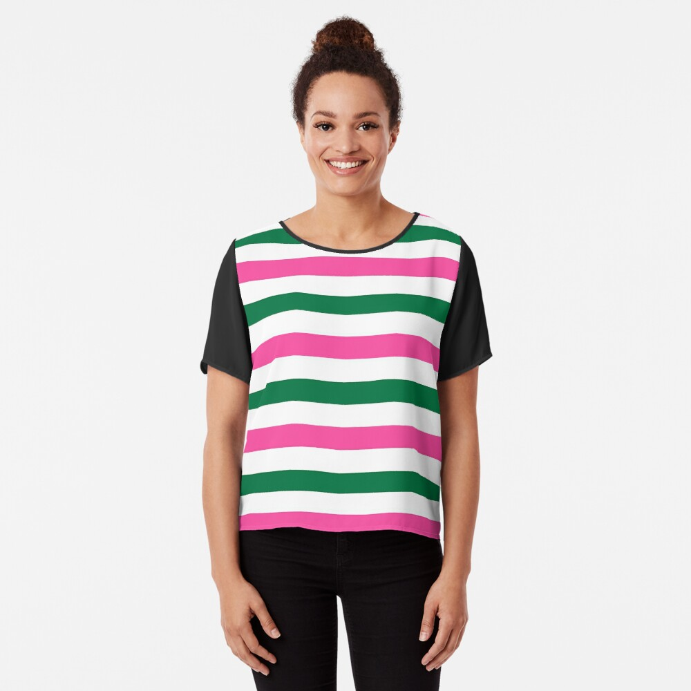 Deckchair Stripes Chiffon Top