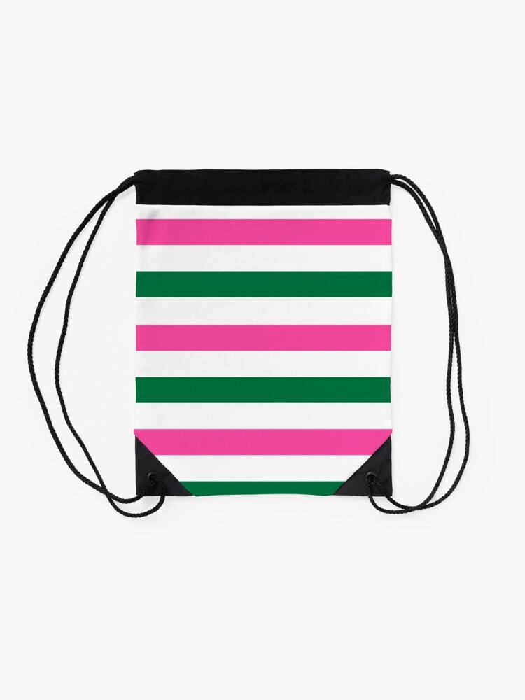 Alternate view of Deckchair Stripes Drawstring Bag