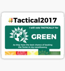 Vote Green Tactically Sticker