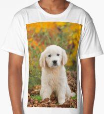 Cute Golden Retriever puppy sitting  Long T-Shirt