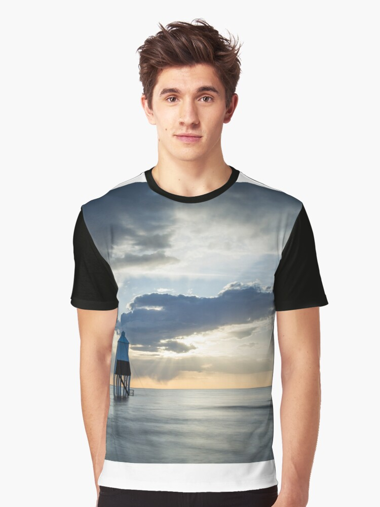 Lower Lighthouse at Burnham on Sea Graphic T-Shirt Front