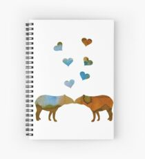 Tapir couple Spiral Notebook