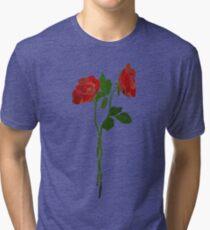 2 dark roses Tri-blend T-Shirt