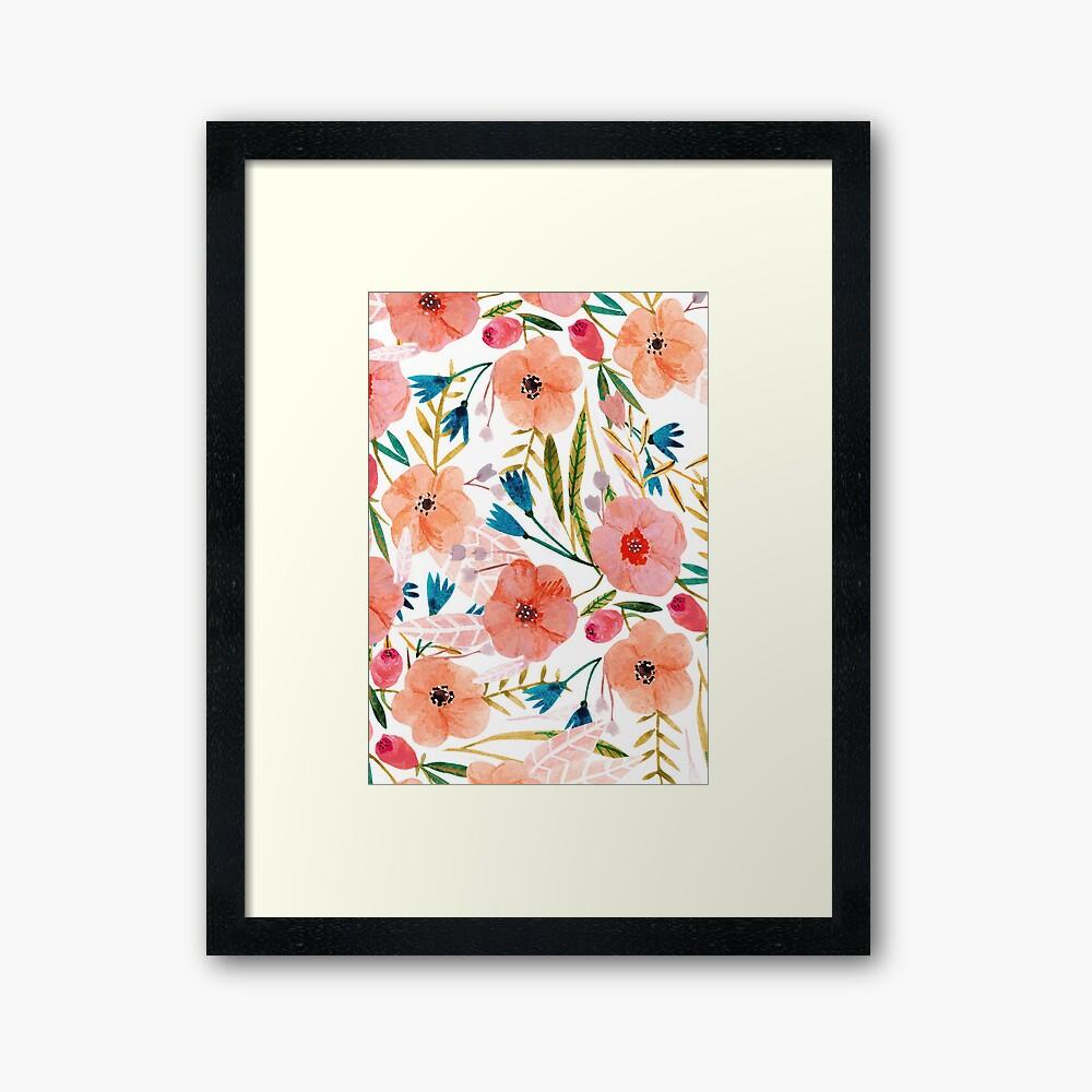 Floral Dance Framed Art Print