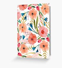 Floral Dance Greeting Card