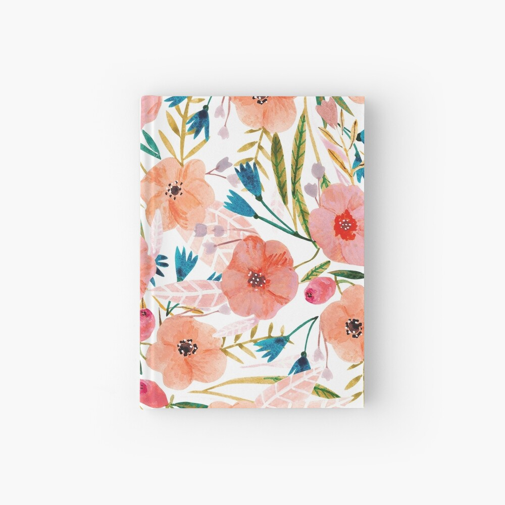 Floral Dance Hardcover Journal