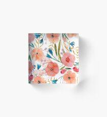 Floral Dance Acrylic Block