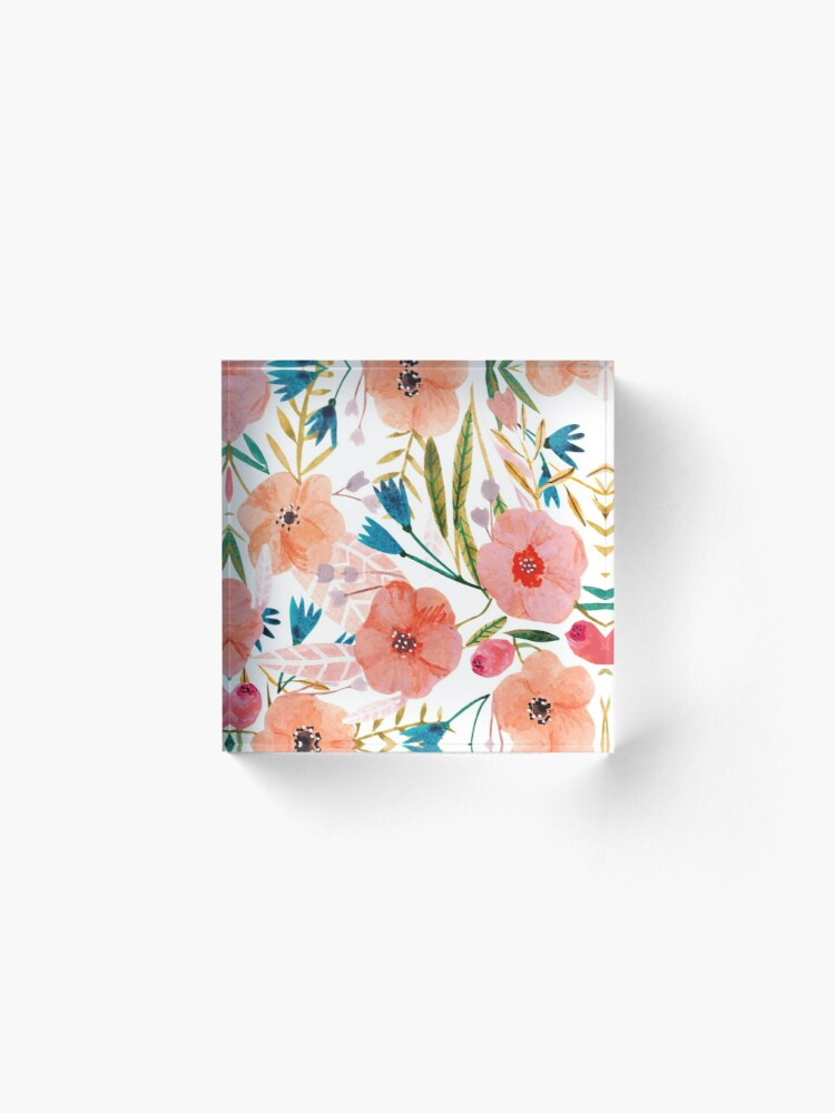 Alternate view of Floral Dance Acrylic Block