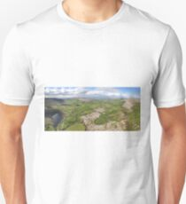 aerial panoramic landscape from the burren national park in county clare ireland. beautiful scenic irish rural nature countryside Unisex T-Shirt