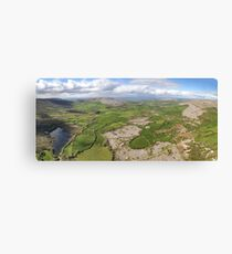 aerial panoramic landscape from the burren national park in county clare ireland. beautiful scenic irish rural nature countryside Canvas Print