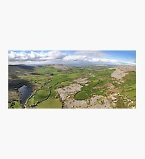 aerial panoramic landscape from the burren national park in county clare ireland. beautiful scenic irish rural nature countryside Photographic Print