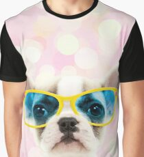 Cute French Bulldog puppy wearing giant glasses Graphic T-Shirt