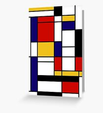 Mondrian Greeting Card
