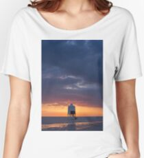 Sunset at the Lower Lighthouse at Burnham on Sea Women's Relaxed Fit T-Shirt