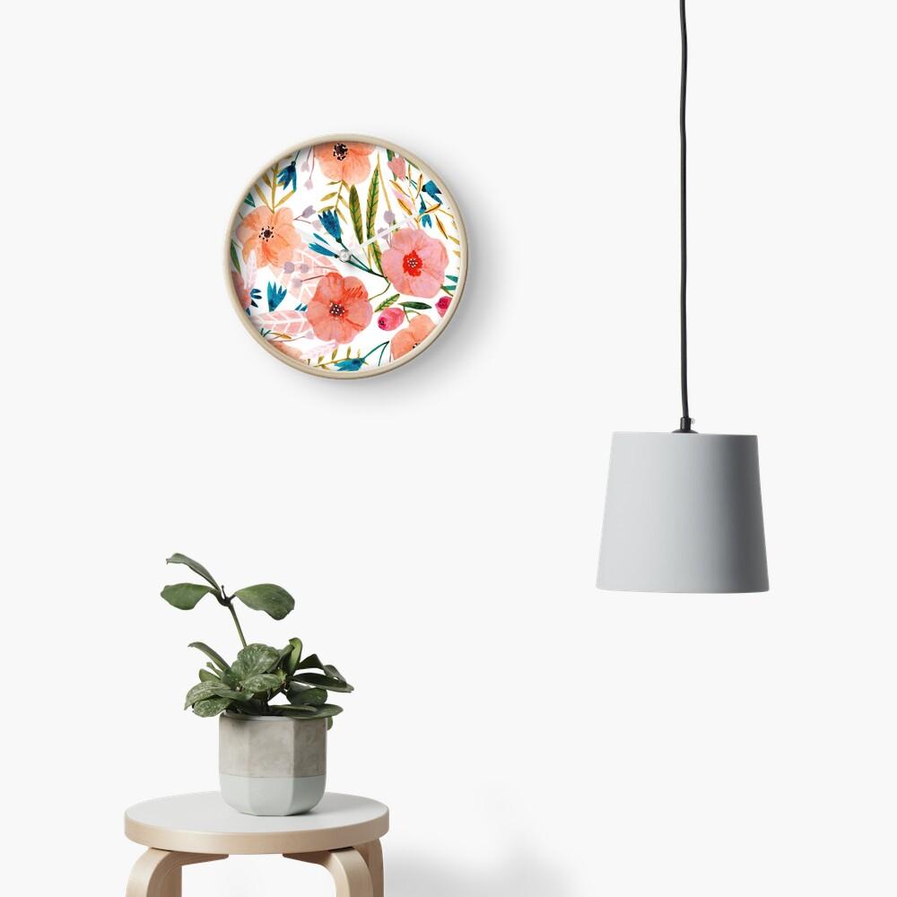 Floral Dance Clock