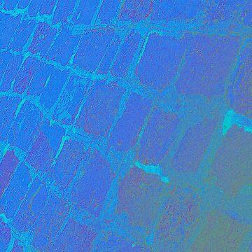 Blue Nile-Crocodile-Tile by MagsArt