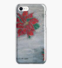 Poinsettia on Snow iPhone Case/Skin