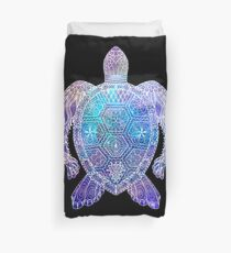 Space Sea Turtle Duvet Cover