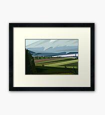 Stormy field Framed Print