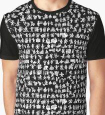 Fallout Vault Boy Perks Graphic T-Shirt