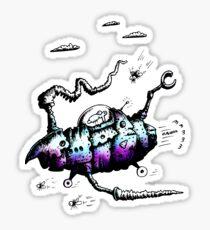 The Steam Powered Ratship Sticker