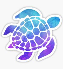 Sea Turtle Watercolor Blue and Purple Sticker