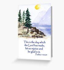 Thankfulness, Psalm 118:24  Greeting Card