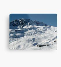 Swiss Winter Snow Scene Metal Print